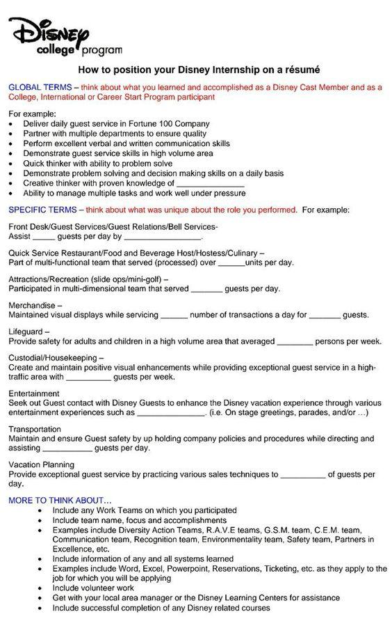 The Disney Den DCP Phone Interview Study Guide DCP Pinterest - restaurant hostess resume sample