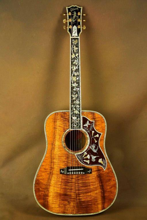 Gibson Master Museum Hummingbird Koa Ren Ferguson Custom Acoustic Guitar Ebay Cu Custom Acoustic Guitars Gibson Guitars Acoustic Acoustic Guitar Photography