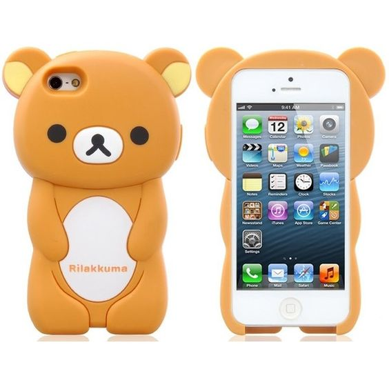 Detachable Cartoon Bear Protective Case for iPhone 5 (Brown) ($12) ❤ liked on Polyvore featuring accessories, tech accessories and comic book