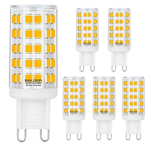 Balder Dimmable G9 Led Bulb 6w 60w Halogen Bulb Replacement Warm White 3000k Bi Pin6pack Amazon Most Trusted E Retailer G9 Led Bulb Led Bulb Halogen Bulbs