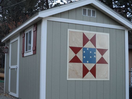 Every one love's quilts, so we wanted to paint our own for our shed's or house's.