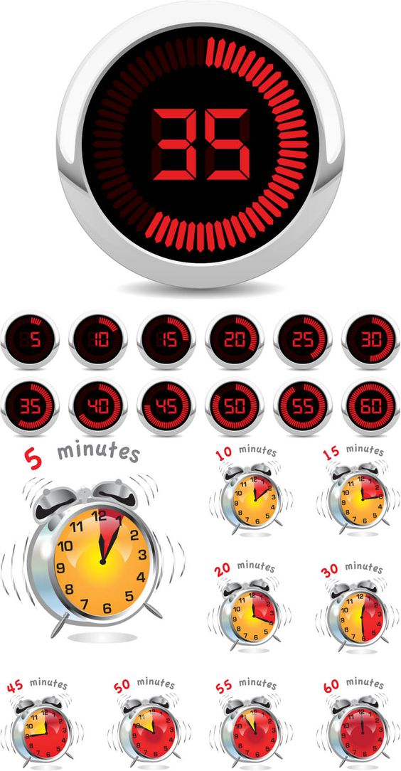 Timers and alarm clocks vector. We have over 10,000+ pictures. All images on the site vectorpicfree.com free for download and ready for print.