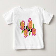 Pink and Orange Roses Baby T-Shirt