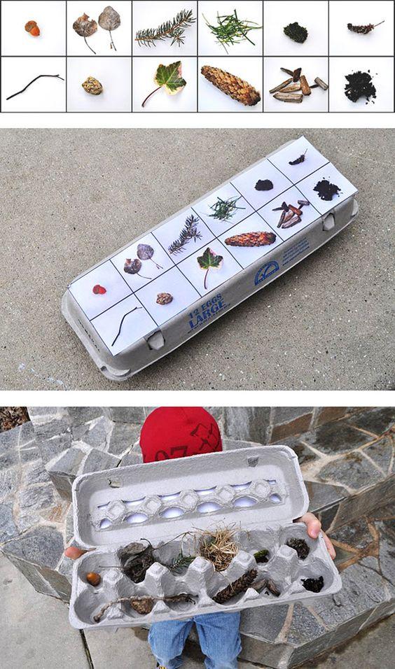 Speelgoed dat je kan maken met karton dozen - planten verzameldoos