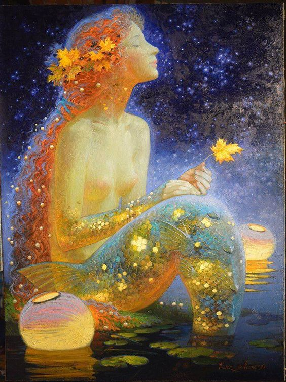 The last leaf Mermaid by Victor Nizovtsev:
