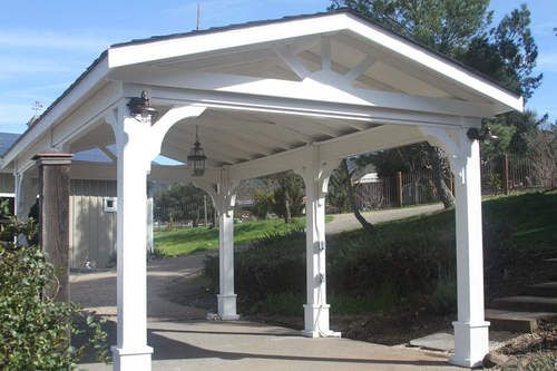 Pressure Treated Pine Gabled Roof Pavilion Outdoor Pergola Pergola Building A Pergola