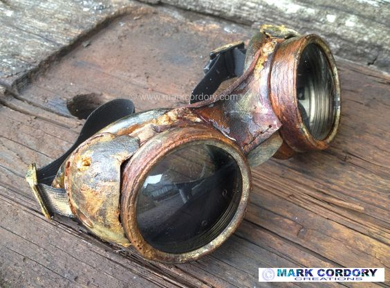 Post Apocalyptic LARP Airsoft goggles made by Mark Cordory Creations www.markcordory.com