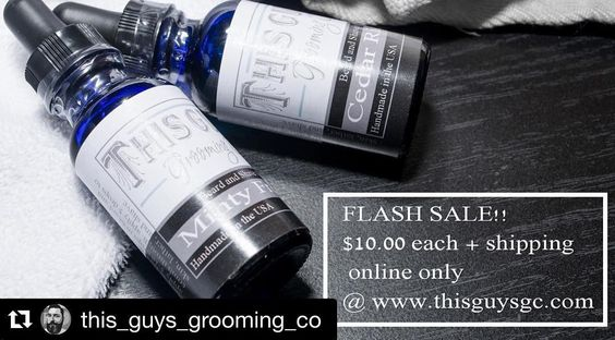 Check out @this_guys_grooming_co  www.thisguysgc.com  #Repost @this_guys_grooming_co with @repostapp.  Flash Sale for the next 48 hours. Get yours now by following the link in the bio!  #giveitatry #beardoil #beardlife #bearded #beardproducts #beardgrooming #beardnation #beardbros #beards #dapper #mensgrooming #wellgroomed #beardgang #beardedvillains #beardcare #beardlifestyle by kevinggodwin