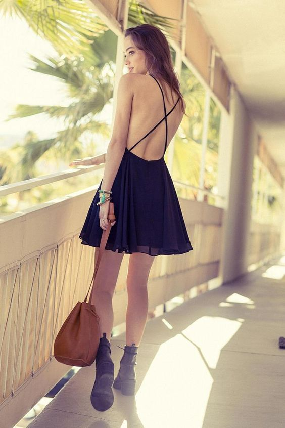 Silence  + Noise Chiffon High-Neck Apron Dress #urbanoutfitters