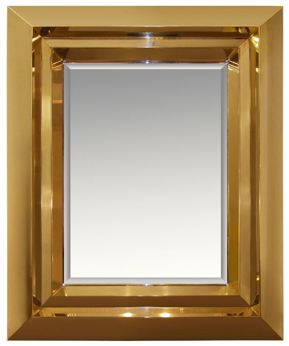 Brass Beveled Mirror