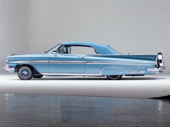 1959 Chevy Impala .. beauty in baby blue appreciated by Motorheads Performance www.classiccarssanantonio.com