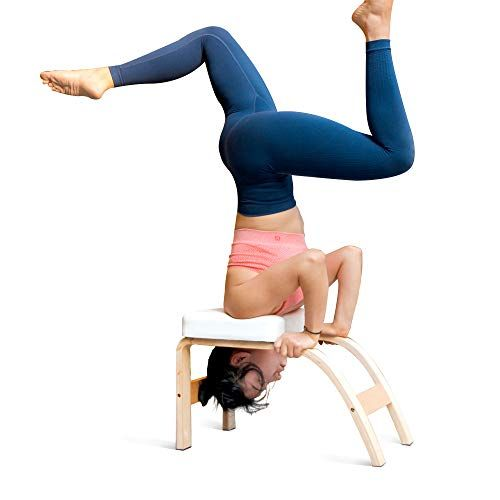 Thundesk Yoga Inversion Bench Headstand Prop Upside Down Chair For Feet Up And Balance Training Core Strength Bui Yoga Inversions Headstand Yoga Yoga Handstand