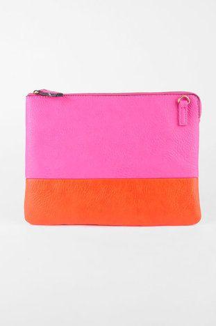 Color-block clutch