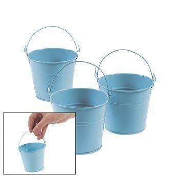 "3"" Blue Tin Pails (1 dz) by Fun Express, http://www.amazon.com/dp/B004N5S2B2/ref=cm_sw_r_pi_dp_9IuUrb0AK3519"