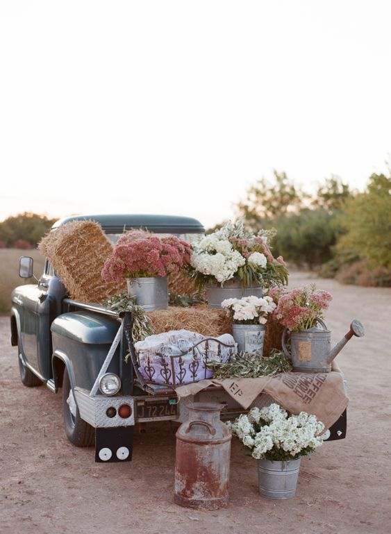 Flowers in Galvanized Buckets | photography by http://carrie-patterson.squarespace.com/