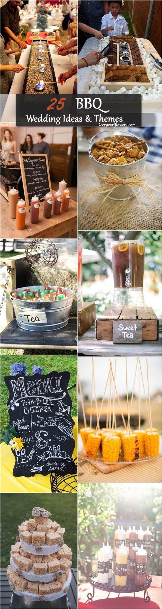 Rustic BBQ Barbecue Wedding Ideas / http://www.deerpearlflowers.com/barbecue-bbq-wedding-ideas/