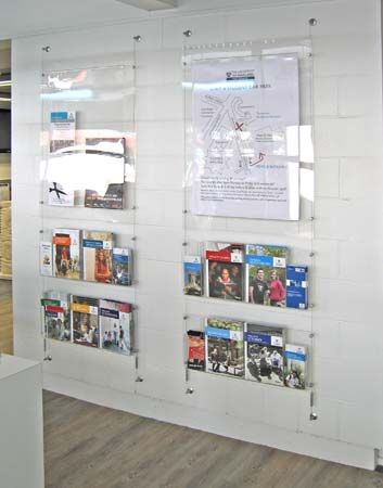 Brandstand Nz Cable Wall Mounted Poster Display With