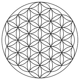 The Flower of Life is the modern name given to a geometrical figure composed of multiple evenly-spaced, overlapping circles. They are arranged to form a flower-like pattern with a sixfold symmetry, similar to a hexagon. The center of each circle is on the circumference of six surrounding circles of the same diameter. It is considered by some to be a symbol of sacred geometry, said to contain ancient, religious value depicting the fundamental forms of space and time.In this sense, it is a…
