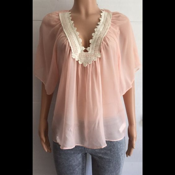 NWOT Katiek silk crochet top Bust (armpit to armpit) 18 inches *length is 26 inches* beautiful light flowy top *15% off bundles Katiek Tops Tunics