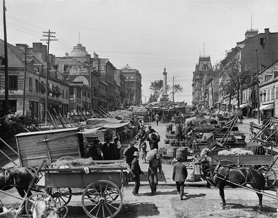 ca. 1900 Montreal, Canada - Place Jacques-Cartier ☺