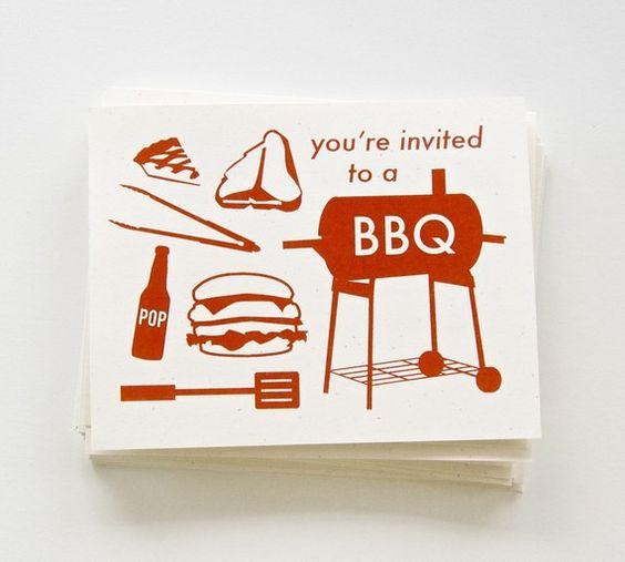 BBQ invites