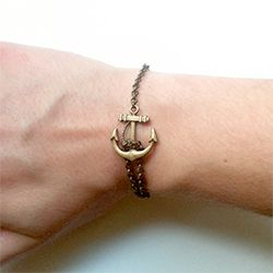 Learn how to make a simple anchor bracelet.