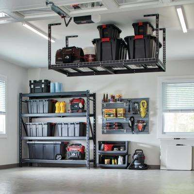 Garage Overhead Storage Garage Racks The Home Depot In 2020 Garage Racking Diy Garage Storage Garage Ceiling Storage