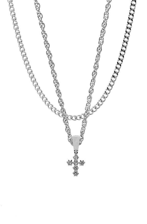 Mister Micro Crucis Necklace - Chrome