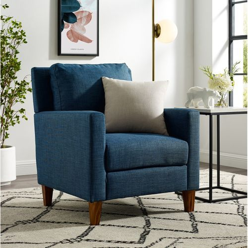 Upholstered Modern Navy Blue Accent Chair Blue Accent Chairs