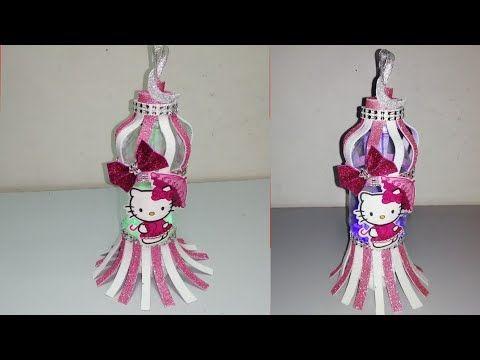 فانوس كيتى أحدث فوانيس رمضان ٢٠٢٠ من ورق الفوم و زجاجة فاضية فكرة فان Christmas Ornaments Holiday Decor Novelty Christmas