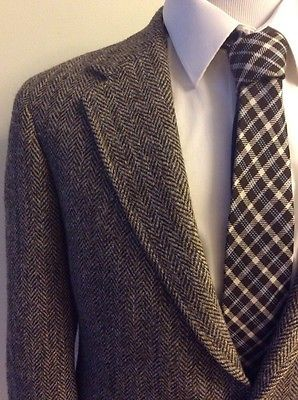 40/42 R Ralph Lauren Mens HEAVY TWEED Sport Coat HERRINGBONE