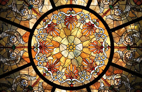 Stained Glass by Stephen Collette  - The Healy and Millet stained glass dome in the Chicago Cultural Center