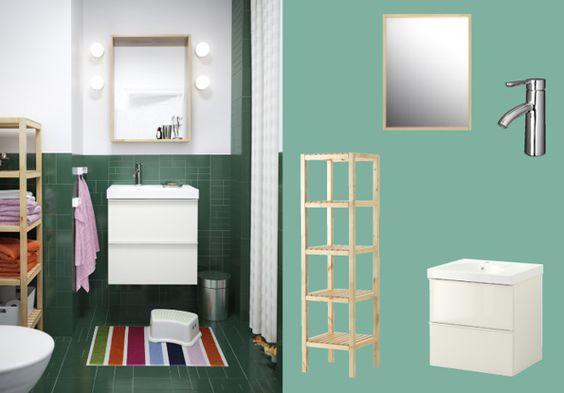 Armario para lavabo godmorgon edeboviken alto brillo for Armario para lavabo