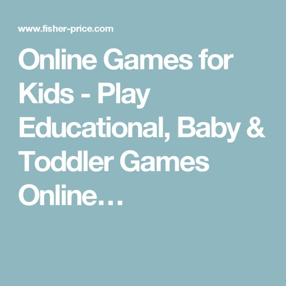 Online Games for Kids - Play Educational, Baby & Toddler Games Online…