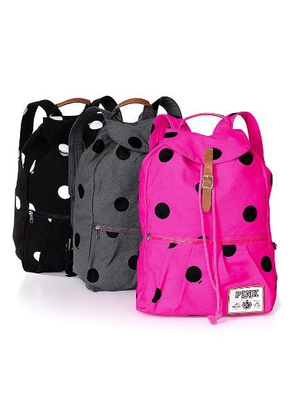 Polka Dot Backpacks.