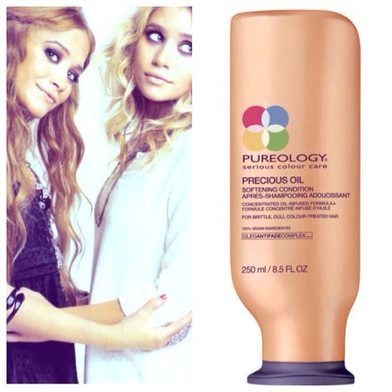 Pureology Precious Oil Softening Conditioner. The softest hair. Beautiful shine. Olsen sisters. Mary Kate Ashley Olsen.