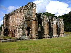Dissolution of the Monastaries: 1536-1541 carried out under the direction of Henry VIII. These are the ruins of Furness Abbey, dissolved in 1539. Anne was a prime force in influencing the King to dissolve the monastaries in order to destroy papal authority in England. The Dissolution of the Monastaries caused upheaval in England, because the religious tenants were forced onto the streets and into poverty, causing severe economic difficulties for the country.