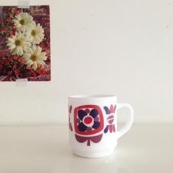 Image of Mug Tasse A Cafe Mobil Vintage lot de 3