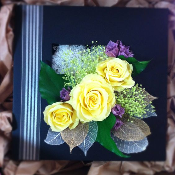 Yellow Rose Frame Arrangement  Studio Clara 2012: