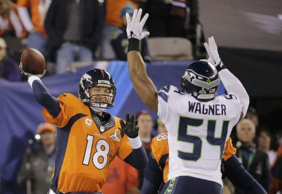 NFL Super Bowl XLVIII, Wagner covering Manning