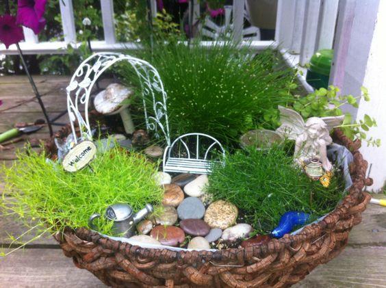 Sheina and Mariyka Robson's Fairy Garden