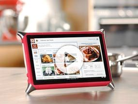 """The new QOOQ tablet  Become a wiz in the kitchen with this French culinary tablet, loaded with over 3,500 interactive recipes from 100 chefs. Qooq (pronounced """"cook"""") features video tutorials and grocery lists and even alters the recipe for you depending on the number of guests. Plus, it's Internet-ready, so you can post pictures of your delicious dinners online."""