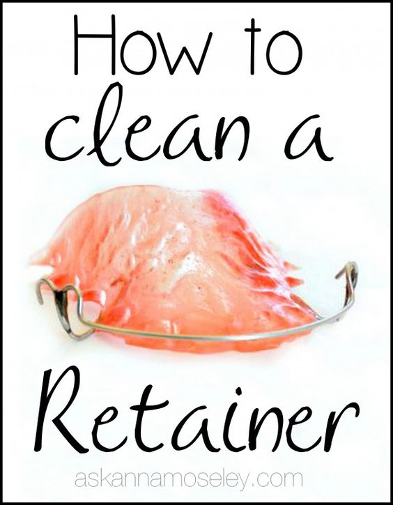 how to clean retainers hydrogen peroxide