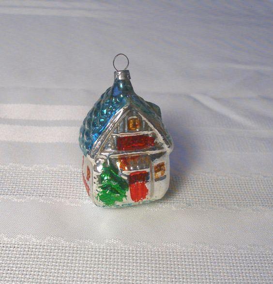 Vintage House Ornament Antique German Blown Glass