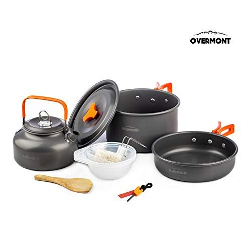 Portable Outdoor Camping Backpacking Cookware Hiking Cooking Equipment Kit Set