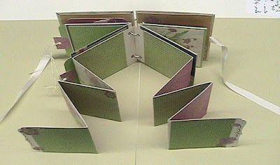 Great picture tutorial for 4.5 x 4.5 inch mini album.