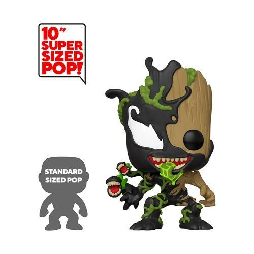 Marvel Venomized Groot 10 Inch Pop Vinyl Figure Funko Venom Pop Vinyl Figures At Ee Distribution In 2020 Vinyl Figures Marvel Max Funko Pop Marvel