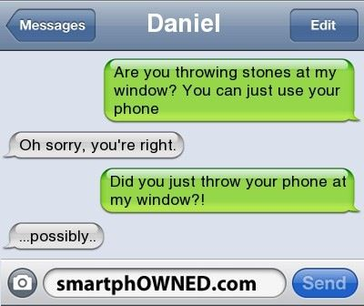 He wouldnt have been able to reply to the text if he did would he?  Id think his phone would be broken or lost