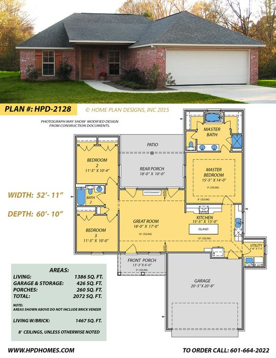 Home Plan Designs Inc Www Hpdhomes Com 601 664 2022