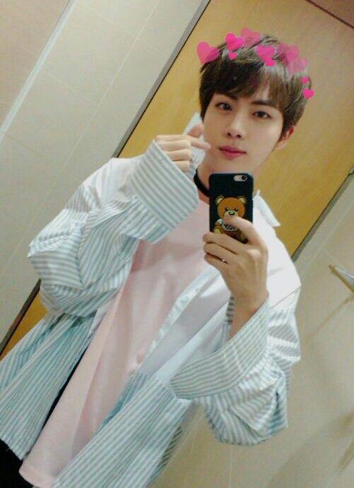 Jin Kimseokjin Cute Selca Bts Seokjin Jin Bts Kim Seokjin